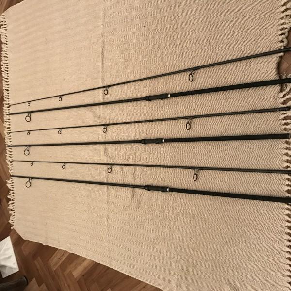 3x Harrison Torrix 12ft 3lb Tc 40mm butt rings fishing rods custom built with full jap shrink butts Matt black
